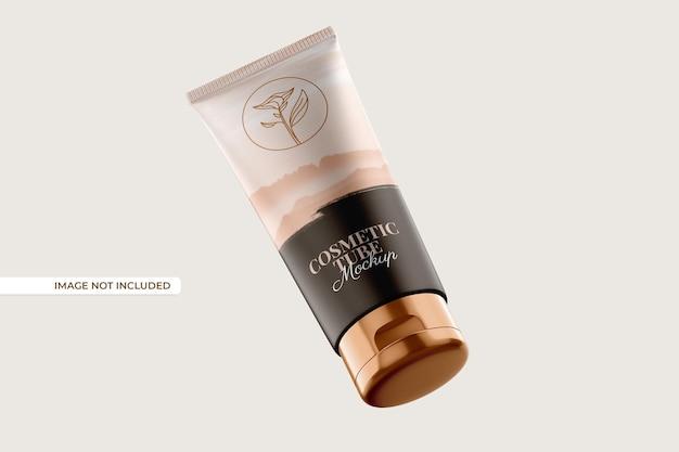Cosmetic tube and bottle mockup