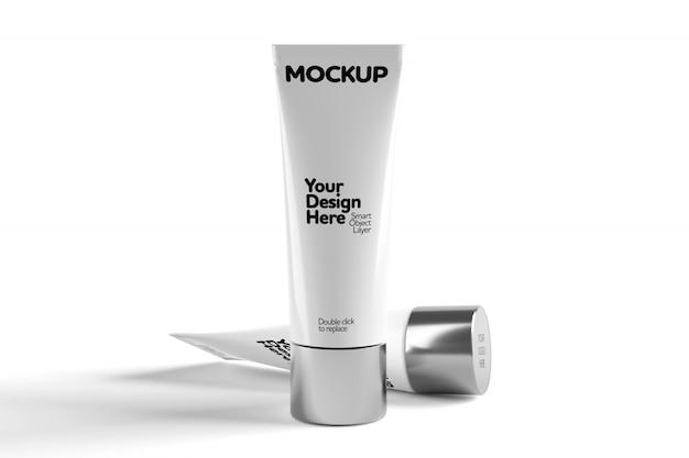 Cosmetic tube mock up tube isolated