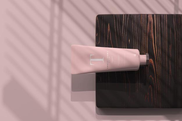Cosmetic tube mockup