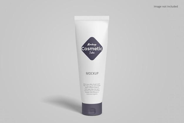 Cosmetic tube packaging mockup