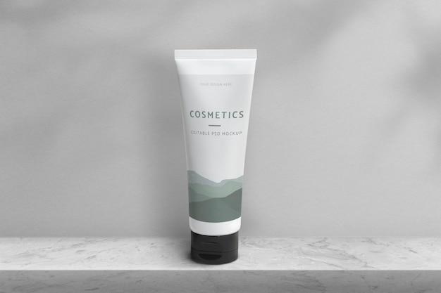 Confezione di bellezza psd mockup prodotto tubo cosmetico