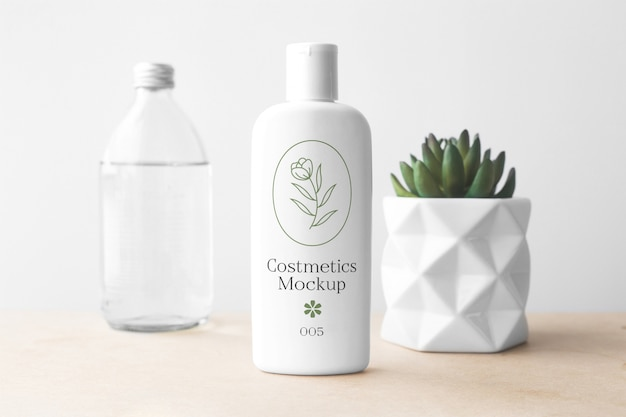 Cosmetics bottle mockup collection