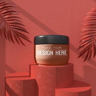 Mockup del marchio di cosmetici. pacchetto per marchio e identità. pronto per il tuo design