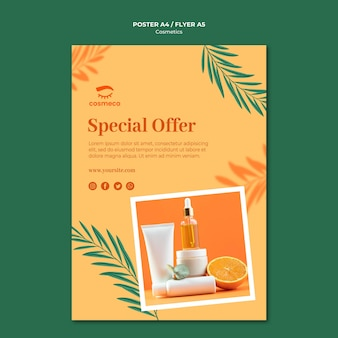 Cosmetics special offer poster template