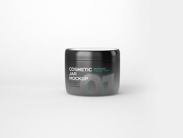 Cosmetics tube and jar mockup