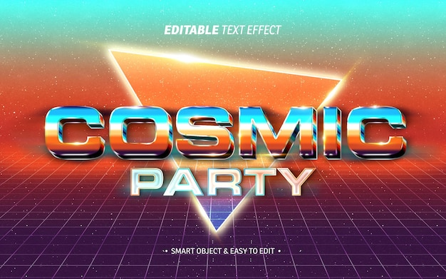Cosmic party text effect