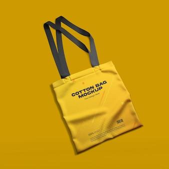 Мокап хлопковой сумки