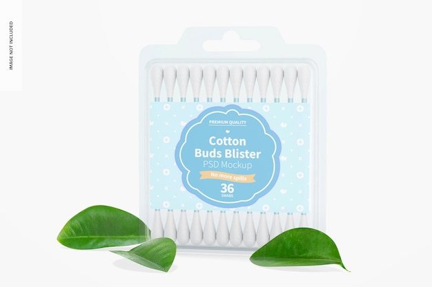 Mockup di blister di cotton fioc