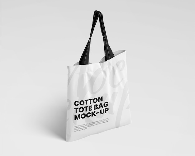 Cotton tote bag mockup