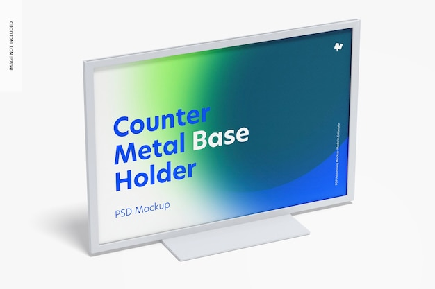 Counter top metal base holder mockup,