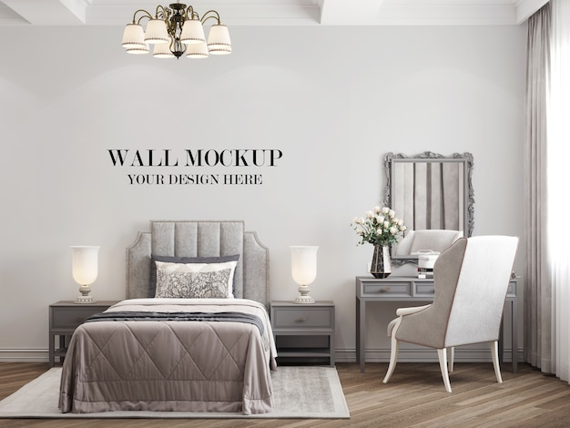 컨트리 스타일 아름다운 침실 벽 모형
