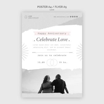 Couple anniversary print template