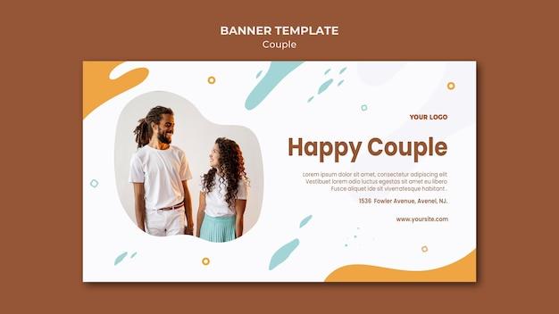 Modello di banner concetto di coppia