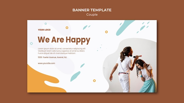 Couple concept banner template