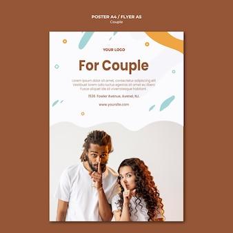 Modello di volantino concetto di coppia
