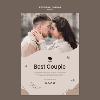 Couple concept poster template