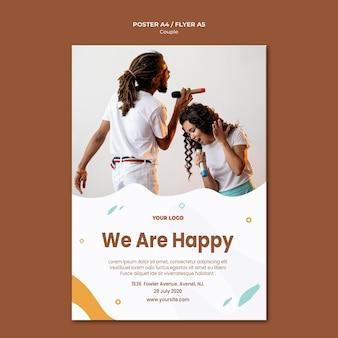 Шаблон плаката концепции пары