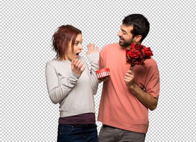 꽃과 선물 발렌타인 데이 커플