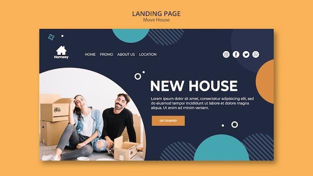 Coppia in movimento e inizia una nuova landing page
