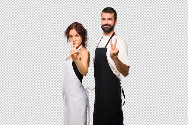 料理人の幸せと指数で2を数えるカップル