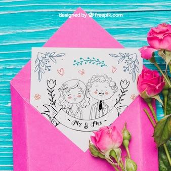 Couple postcard concept