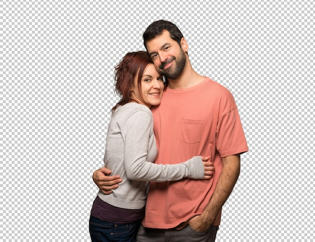 Couple in valentine day hugging