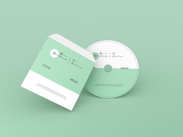 カバーとコンパクトディスクのモックアップ