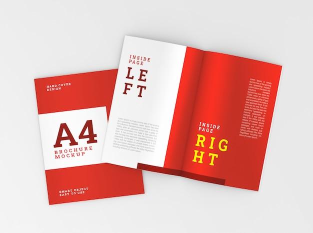 표지 및 내부 a4 브로셔, 소책자 모형. 템플릿.