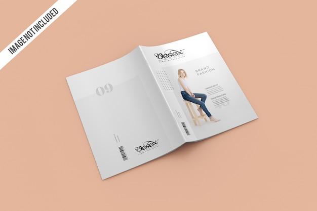 Cover and backcover magazine mockup