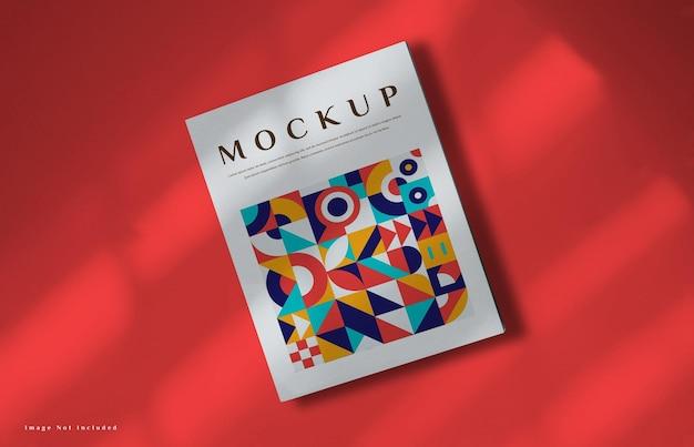 Cover book mockup in 3d rendering
