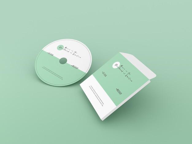 Copertina e mockup di compact disc