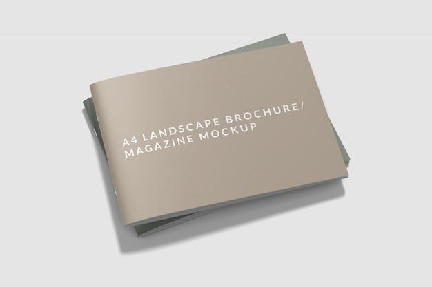 Cover landscape book/ magazine mockup