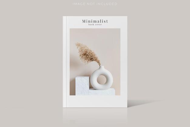 Cover of magazine mockup isolated