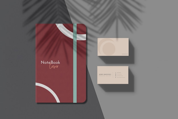 Cover notebook mockup