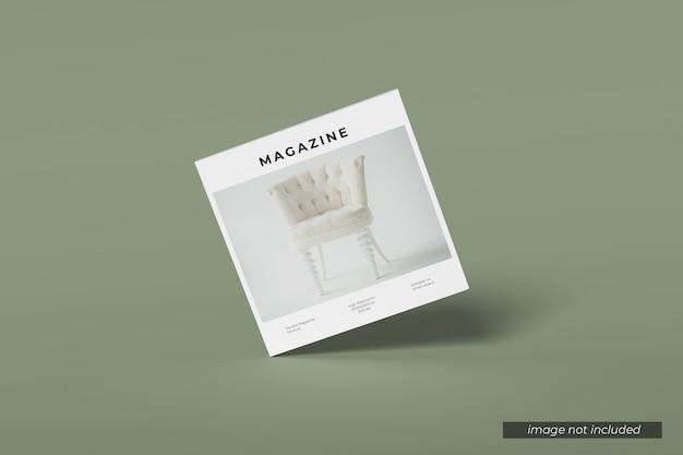 正方形の雑誌のモックアップをカバー