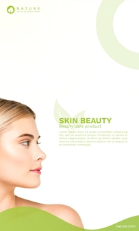 Cover template with beauty concept