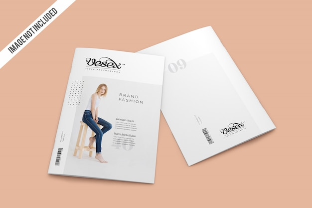 Cover with backcover magazine mockup