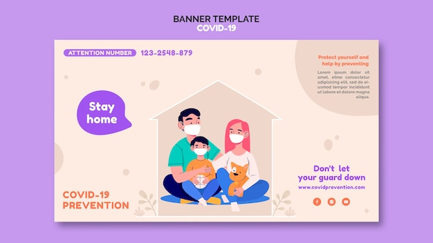 Covid 19 banner template
