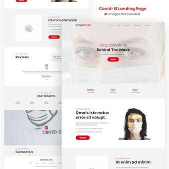 Covid-19, corona virus website design template