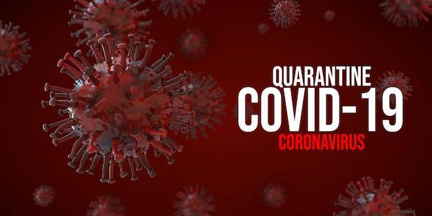 Covid-19 코로나 바이러스 3d 렌더링 일러스트