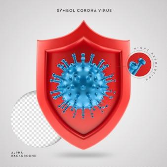 Covid-19 символ корона вирус 3d защита