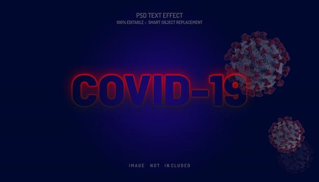 Covid 19 текстовый эффект премиум-дизайн psd-файл