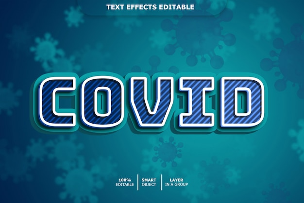 Covid 3d text style effect