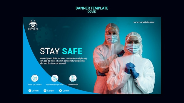 Covid banner template