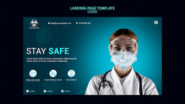Covid landing page