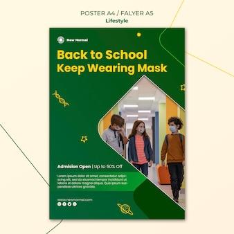 Covid lifestyle poster e modello di progettazione flyer