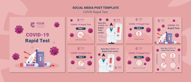 Post sui social media di test rapido covid