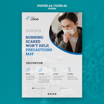 Covid19 concept poster template