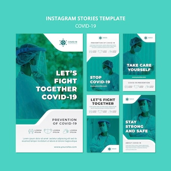 Covid19 instagram stories template