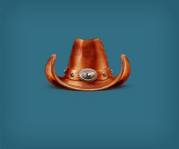 Cowboy leather hat in psd